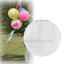 Boule japonaise blanc 20 cm