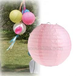 Boule japonaise rose pastel 20 cm