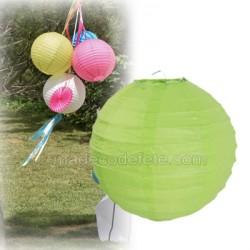 Boule japonaise vert anis 20 cm