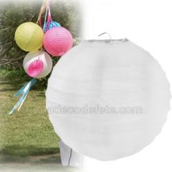 Boule japonaise blanche 30 cm