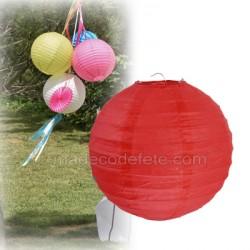 Boule japonaise rouge 20 cm