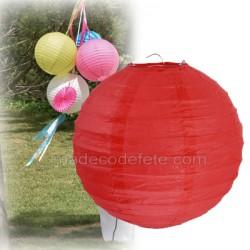 Boule japonaise rouge 30 cm