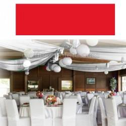 Tenture de salle 25 m rouge