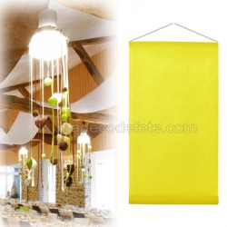 Tenture de salle 12m jaune