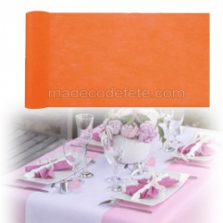 Chemin de table intissé orange