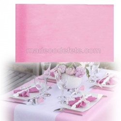 Chemin de table intissé rose