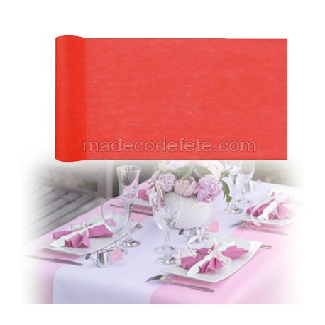 Chemin de table intissé rouge