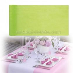 Chemin de table intissé vert anis