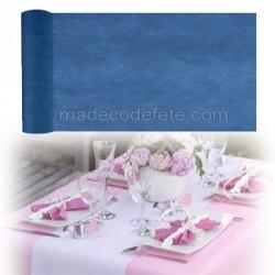 Chemin de table intissé bleu marine