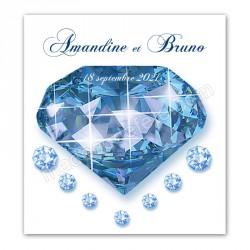 Faire-part thème diamant