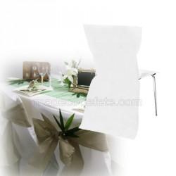 Housse de chaise jetable blanche