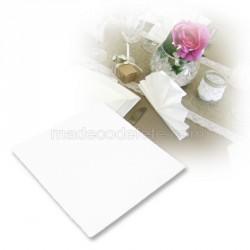 50 serviettes intissées blanches