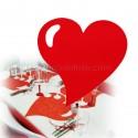 50 sets de table coeur rouge