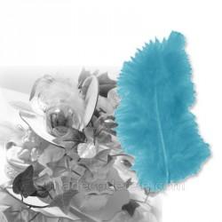 20 plumes décorations turquoise