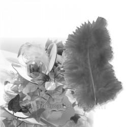 20 plumes décorations grises