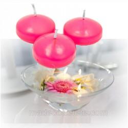 4 bougies flottantes fuchsia