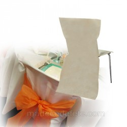 Housse de chaise jetable ivoire
