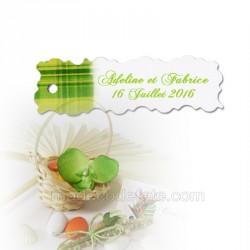 10 étiquettes dragées madras vert