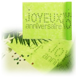 Chemin de table anniversaire anis