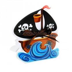 Boîte à dragées bateau pirate