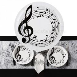 10 assiettes jetables musique
