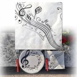 20 serviettes notes de musique