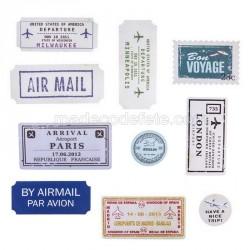 20 étiquettes voyage