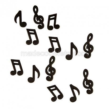 Notes de musique noires
