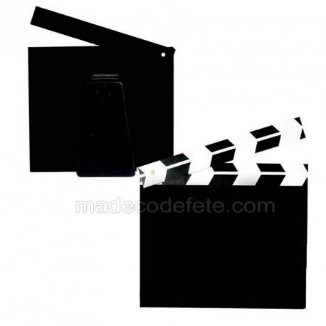 Clap cinéma marque-table