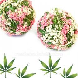 2 Boule fleurie fuchsia