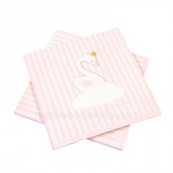 20 serviettes baby princesse