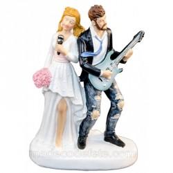 Figurine mariage rock