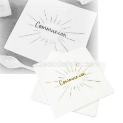 Serviettes communion or x 20