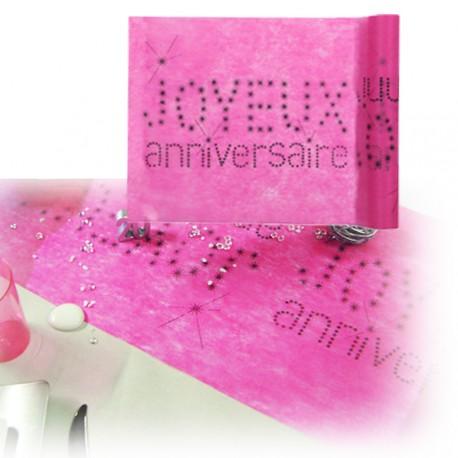 Chemin de table anniversaire rose fuchsia