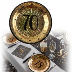 assiettes 70 ans or x10