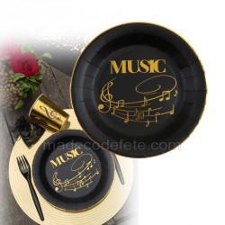 assiettes musiques x10