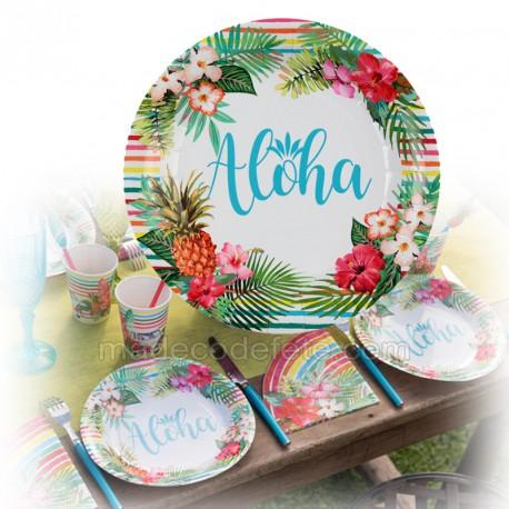 assiettes aloha x10