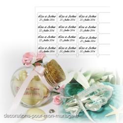 30 étiquettes transparentes dragées