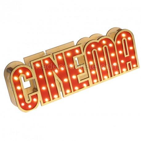 Décor cinéma lumineux