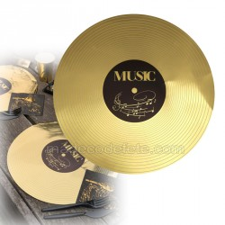 Set de table disque d'or x6