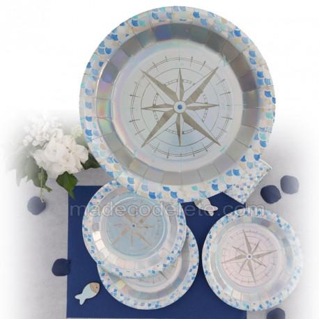 assiette océan x10