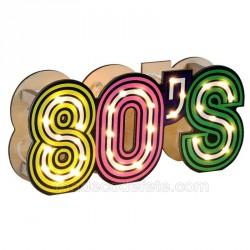 Déco années 80 lumineux