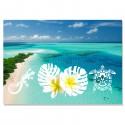 Set de table plage Polynésie