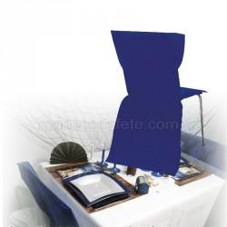 Housse de chaise jetable bleu roi