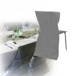 Housse de chaise jetable grise