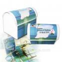Malle dragées Guyane madras bleu