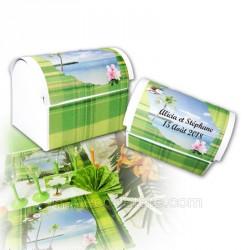 coffre dragées Réunion madras vert
