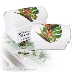Malle dragées fleur strelitzia