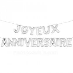 Ballons lettres joyeux anniversaire 36 cm