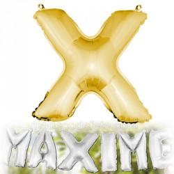 Ballon lettre X métallisé OR